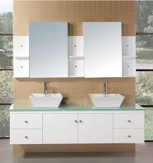 Adorna  Inch Double Sink Bathroom Vanity Set In White Finish - Bathroom sinks and vanities