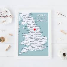 Nottingham England Map by Home Is Where The Heart Is U0027 Greetings Card By Paperpaper