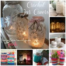 crochet jar covers 8 free patterns crochet home decor