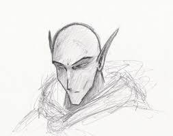 dark elf sketch by vlakorados on deviantart
