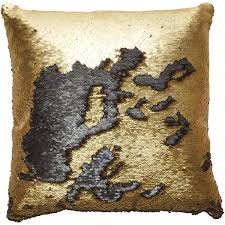 Home Decor Throw Pillows Sequin Cushion Gold Kmart 9 07 Liked On Polyvore
