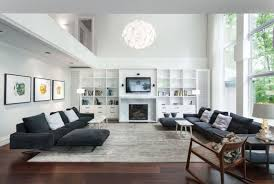 casual family room interior design with white home ideas modern