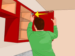 Sanding Kitchen Cabinets Yourself 3 Ways To Make Oak Cabinets Look Like Cherry Cabinets Wikihow