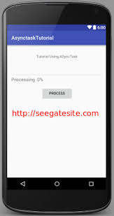asynctask android exle android tutorial using asynctask for android with simple exle