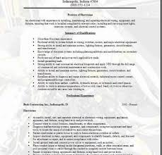 examples of electrician resumes electrician cv 1 plc
