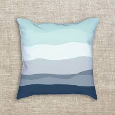 minimalist beach house mint u0026 navy blue decorative throw pillow