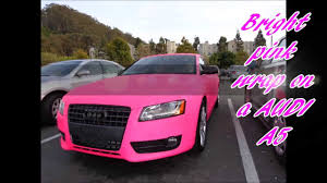 white and pink audi bright pink warp on a audi a5 youtube
