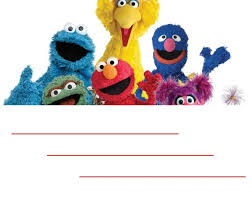 start party sesame street birthday invitations