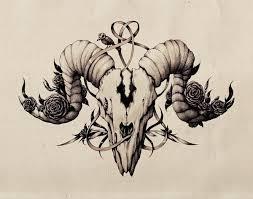 ink pen skull drawing by maria tiurina via behance astrology