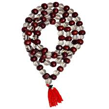 red crystal beads necklace images Buy men style redwood tulsi red crystal sphatik mala bead jpg