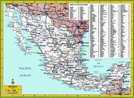 map of mexuco map of mexico showing cities all world maps