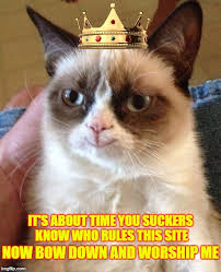 Bow Down Meme - it s about time you suckers know who rules this site now bow down