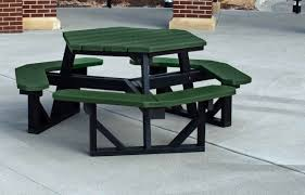 Outdoor Table Plastic Frog Furnishings Recycled Plastic Hex Picnic Table U0026 Reviews Wayfair