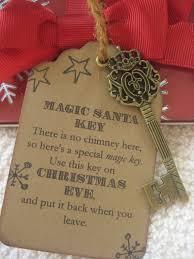 santa key christmas tag magic santa key tag by justpackaging 2 25