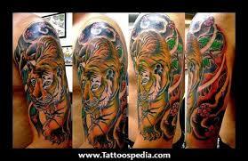 half sleeve tiger