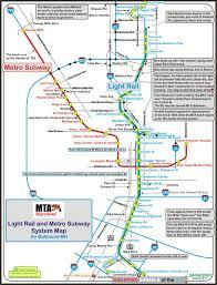 baltimore light rail map baltimore railfan guide light rail and metro map