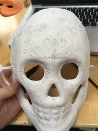 halloween mask vine how to make a day of the dead mask hobbycraft blog