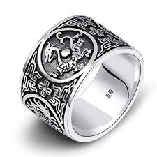vintage bands rings images Gnzoe s925 silver sterling mens vintage bands rings dragon jpg