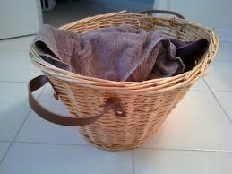 wicker basket with leather handles refurbish an old wicker basket 4 steps