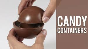 hollow chocolate egg mold creating candy containers with two wilton candy molds