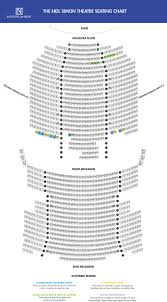 757 Seat Map Neil Simon Theatre The Official Website Ticketmaster Is The