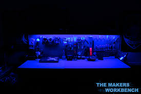 led strip lights projects rgb led under shelf bench lighting the makers workbench