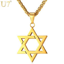 necklace gift images U7 jewish magen star of david necklace men women bat mitzvah gift jpg