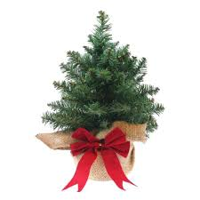 small artificial christmas trees mini artificial christmas tree with woven bag and bow 9