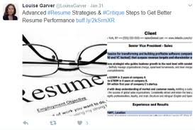 Resume Critique How To Write A Better C Level Marketing Resume Content Examples