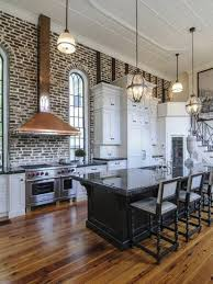 Floor Plan For Kitchen Modern Kitchen Exposed Wall Brick And Open Kitchen Floor Plans