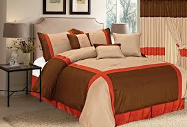 total fab bright to burnt orange and brown comforter bedding sets