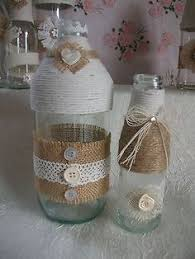 Country Shabby Chic Wedding by Rustic Country Shabby Chic Wedding Decoration Small Posy Bottles X