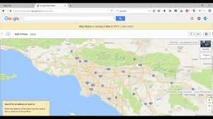 Google Maps Los Angeles Ca by Ping Location In Google Map Youtube