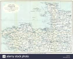 Brittany France Map North West France Normandy Brittany U0026 Channel Islands Ward Lock