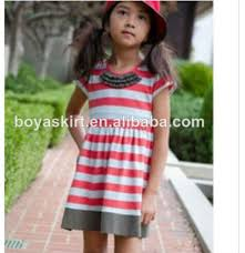 new style fashion children kids striped maxi dress girls long