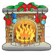 christmas cartoon fireplace clipart panda free clipart images