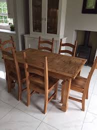 Mexican Dining Room Furniture Dining Table And 6 Chairs With Matching Dresser Mexican Pine In