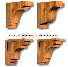 Corbels For Shelves Custom Wood Corbels Custom Knotty Alder Bar Using Osborne Corbels
