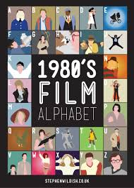 film quiz poster 1980 s film alphabet poster that quizzes your 1980s movie knowledge