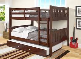 Donco Kids Full Over Full Bunk Bed With Trundle  Reviews Wayfair - Full over full bunk bed with trundle