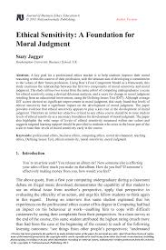 ethical sensitivity a foundation for moral judgment pdf download