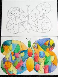 guided drawing inside the butterfly wings write the alphabet go