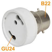 Gu24 Led Light Bulb Mengsled U2013 Mengs High Quality Lamp Base Adapter B22 To Gu24 Led