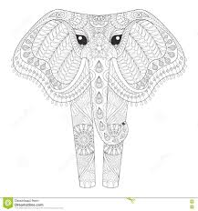 zentangle ornamental elephant for coloring pages hand dra