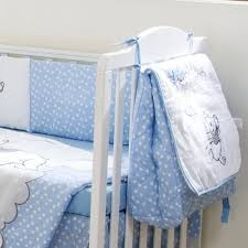 Crib Bedding Blue Baby Bedding Designs Disney Blue Winnie The Pooh Hello Let S Play