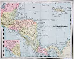 America Central Map by Map Of Central America 1887
