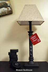 diy chalkboard paint lamp refashion
