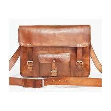 pranjals house vintage handmade real leather messenger bag for men