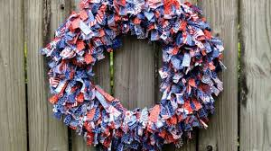how to patriotic rag wreath diy home tutorial guidecentral