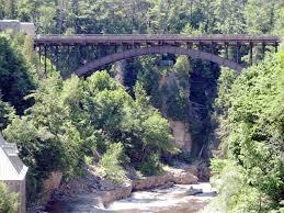 Clinton Ny File Bridge Over The Ausable Chasm Clinton County New York Jpg
